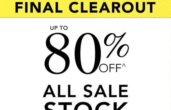 FINAL CLEAROUT, UP TO 80% OFF
