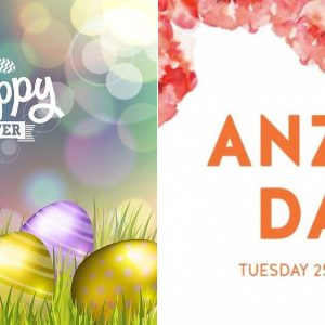 2017 Easter and Anzac Day Trading Hours