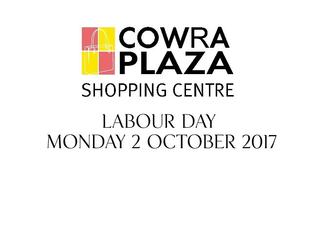 Trading Hours – Labour Day 2017